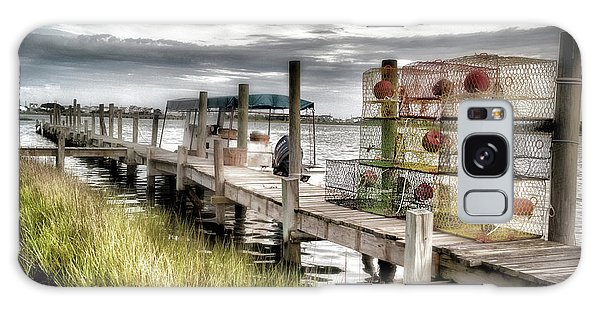 Crabber's Dock, Surf City, North Carolina Galaxy Case by John Pagliuca