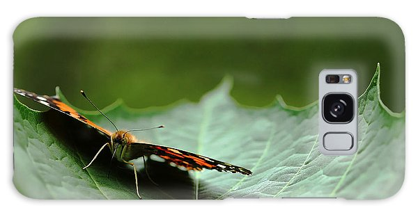 Cradled Painted Lady Galaxy Case by Debbie Oppermann