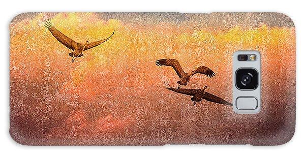 Cranes Lifting Into The Sky Galaxy Case