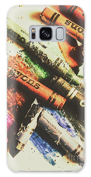 Pattern Galaxy Case - Crash Test Crayons by Jorgo Photography - Wall Art Gallery