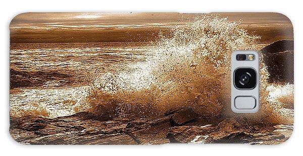 Crashing Wave Hdr Golden Glow Galaxy Case
