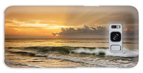 Crashing Waves At Sunrise Galaxy Case