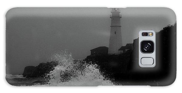 Crashing Waves On A Foggy Morning Galaxy Case