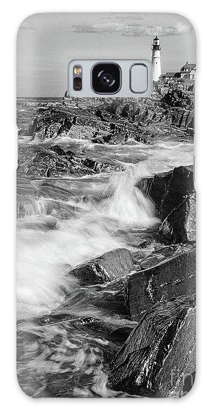 Crashing Waves, Portland Head Light, Cape Elizabeth, Maine  -5605 Galaxy Case