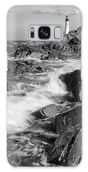 Crashing Waves, Portland Head Light, Cape Elizabeth, Maine  -5605 Galaxy Case