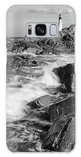 Crashing Waves, Portland Head Light, Cape Elizabeth, Maine  -5605 Galaxy Case by John Bald