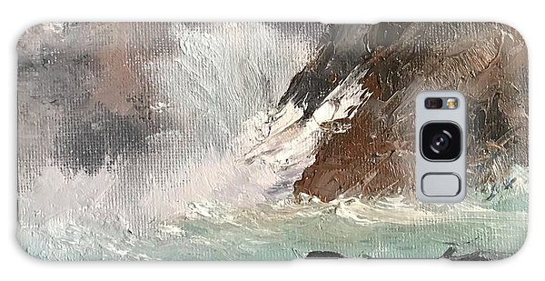 Crashing Waves Seascape Art Galaxy Case by Michele Carter
