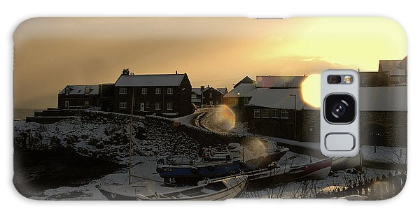 Craster Harbour In Winter 2 Galaxy Case