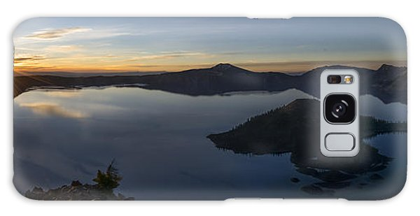 Crater Lake At Sunrise Galaxy Case