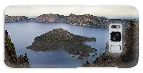 Crater Lake At Sunset Galaxy Case