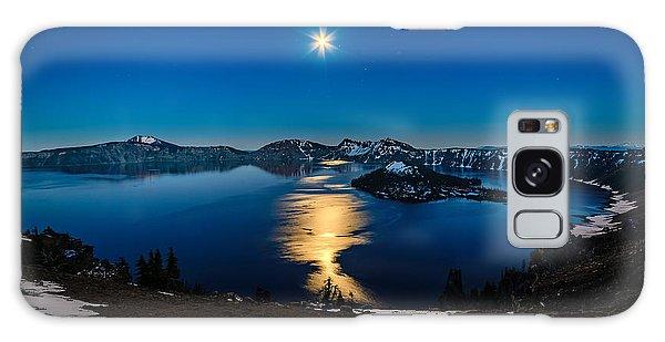 Crater Lake Moonlight Galaxy Case
