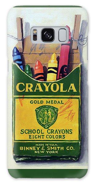 Crayola Crayons Painting Galaxy Case
