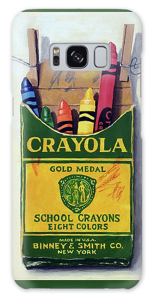 Box Of Crayons Painting Galaxy Case