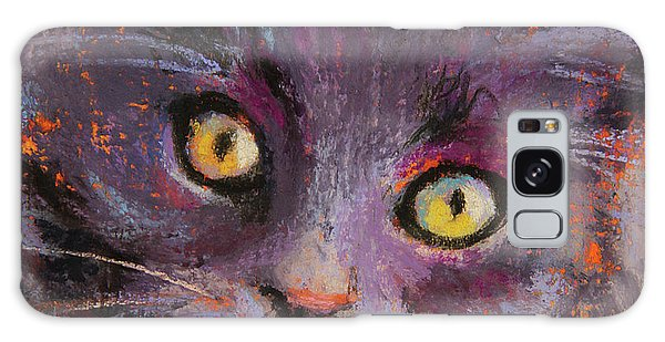Crazy Cat Black Kitty Galaxy Case