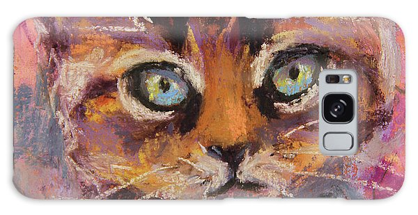 Crazy Cat Tabby  Galaxy Case