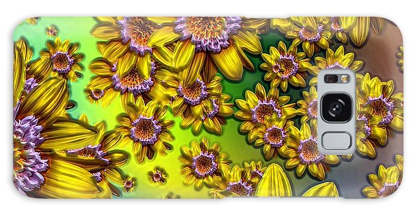 Crazy Daisies Galaxy Case by Nick Kloepping