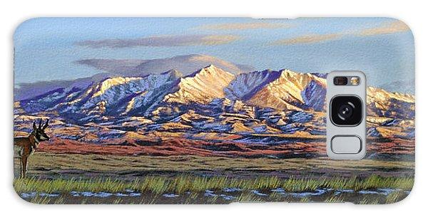 Montana Galaxy Case - Crazy Mountains-morning by Paul Krapf