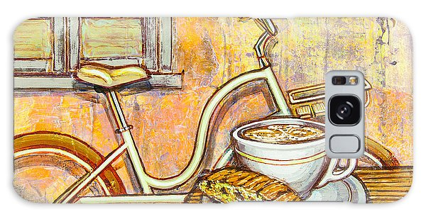 Cream Electra Town Bicycle With Cappuccino And Biscotti Galaxy Case