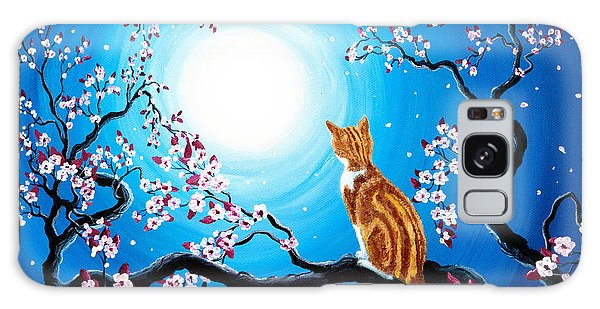 Tabby Galaxy Case - Creamsicle Kitten In Blue Moonlight by Laura Iverson