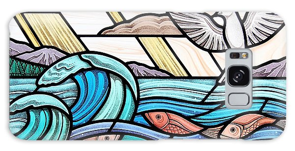 Creation Of The Sea And Sky Galaxy Case by Gilroy Stained Glass