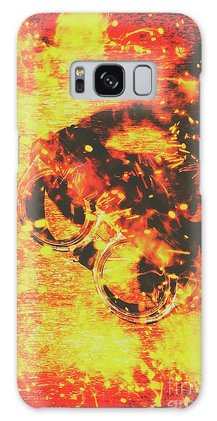 Industry Galaxy Case - Creative Industrial Flames by Jorgo Photography - Wall Art Gallery