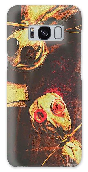 Voodoo Galaxy Case - Creepy Halloween Scarecrow Dolls by Jorgo Photography - Wall Art Gallery
