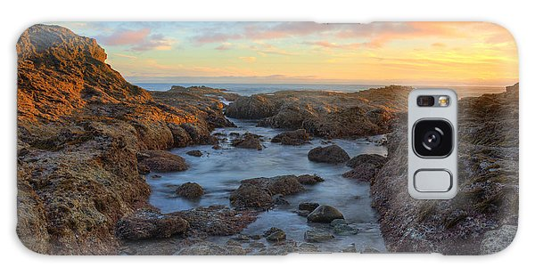 Crescent Bay Tide Pools At Sunset Galaxy Case by Eddie Yerkish