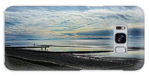 Crescent Beach At Dusk Galaxy Case