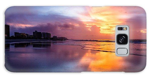 Crescent Beach Sunrise Galaxy Case