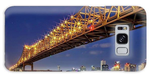 Crescent City Bridge, New Orleans, Version 2 Galaxy Case