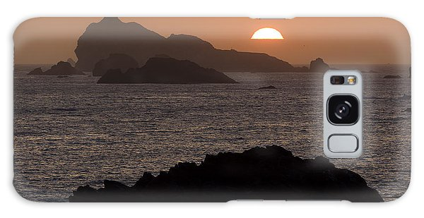 Crescent City Sunset From Battery Point Lighthouse Galaxy Case by Joe Doherty