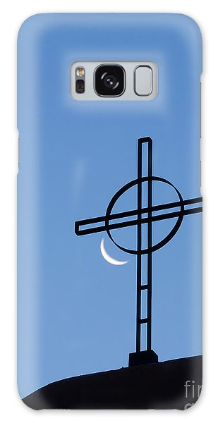 Crescent Moon And Cross Galaxy Case