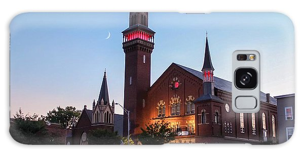 Crescent Moon Over Old Town Hall Galaxy Case