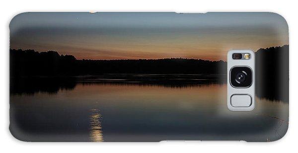 Crescent Moon Set At Lake Chesdin Galaxy Case