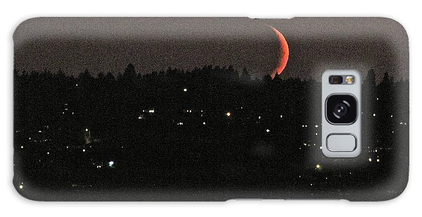 Crescent Moonset Galaxy Case by Sean Griffin