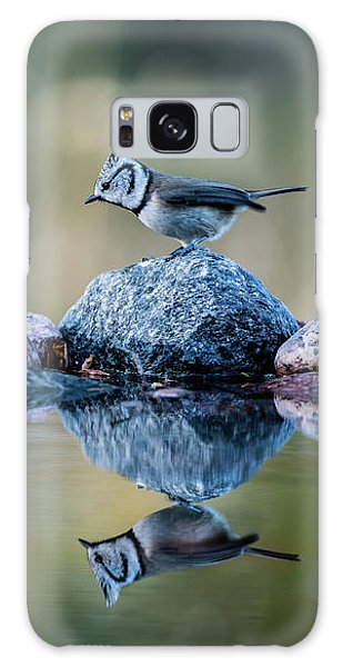 Crested Tit's Reflection Galaxy Case