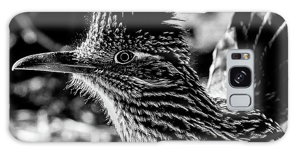 Cresting Roadrunner, Black And White Galaxy Case
