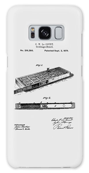 Cribbage Board 1879 Patent Art Transparent Galaxy Case