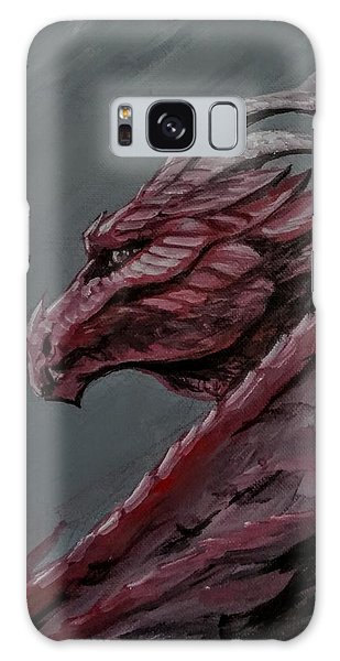Galaxy Case featuring the painting Crimson Dragon by Jennifer Hotai