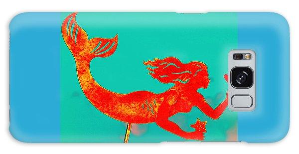 Crimson Mermaid Galaxy Case