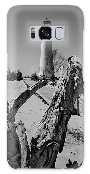 Crisp Point Lighthouse With Driftwood Galaxy Case