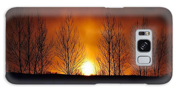 Crisp Sunset Galaxy Case by Dacia Doroff