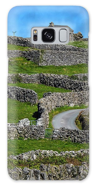 Galaxy Case featuring the photograph Criss-crossed Stone Walls Of Inisheer by James Truett