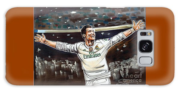 Cristiano Ronaldo Of Real Madrid Galaxy Case by Dave Olsen