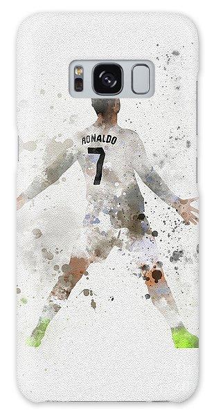 Soccer Galaxy S8 Case - Cristiano Ronaldo by Rebecca Jenkins