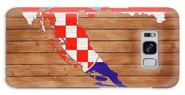 Traveler Galaxy Case - Croatia Rustic Map On Wood by Dan Sproul