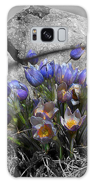 Crocus - Between A Rock And You Galaxy Case by Stuart Turnbull
