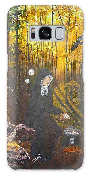 Crone Goddess Keridwen - Samhain Galaxy Case