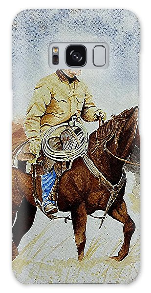 Cropped Ranch Rider Galaxy Case by Jimmy Smith