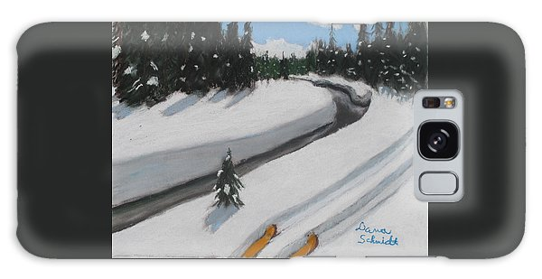 Cross Country Skiing Lone Star Geyser Trail In Yellowstone Nat. Park Galaxy Case